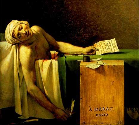 Jacques-Louis David: Der Tod des Marat / Death of Marat, 1793